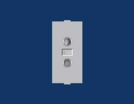 Roma Silver, 6A, 2 Pin Socket Round