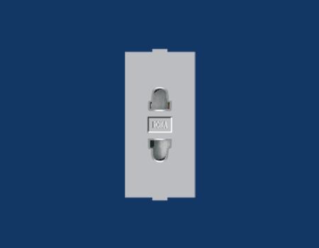 Roma Silver, 6A, URO 2 Pin Socket